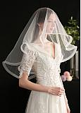 In Stock Beautiful Tulle Wedding Veil With Comb