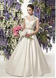 Marvelous Tulle Illusion High Neckline A-line Wedding Dresses With Lace Appliques