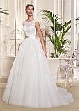 Amazing Tulle & Lace Bateau Neckline A-line Wedding Dresses With Beadings