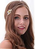 In Stock Simple Alloy Hair Ornaments With Flower