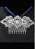 In Stock Attractive Alloy Silver Wedding Hair Ornament With Rhinestones