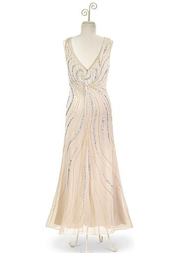 Pretty Chiffon V-neck Neckline Ankle-length Sheath/Column Mother Of The Bride Dress With Detachable Coat & Beadings