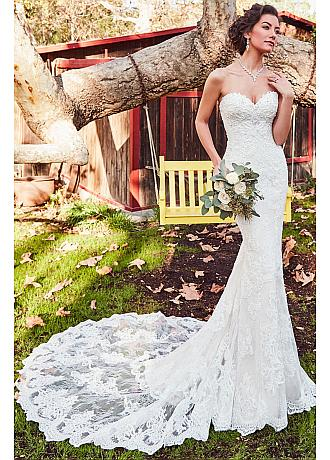 Fabulous Tulle & Lace Sweetheart Neckline Mermaid Wedding Dress With Lace Appliques & Beadings