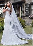Marvelous Tulle Off-the-shoulder Neckline Mermaid Wedding Dress With Lace Appliques
